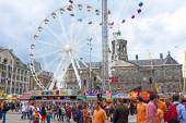 On the Dam square people — Stock Photo