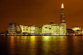 London at night in the UK  — ストック写真