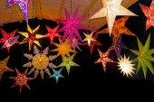 Estrellas de navidad color — Foto de Stock