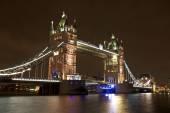 Tower bridge in London UK by night — Stock Photo