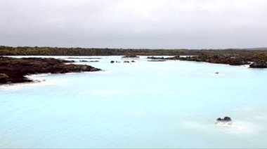 Blue lagoon in Iceland — Stock Video