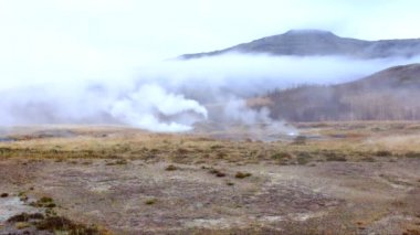 Geyser area in Iceland — Stock Video