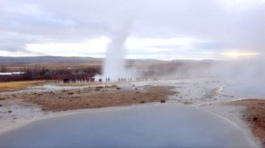 Geyser in Iceland — Stock Video