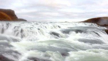 Gullfoss waterfall in Iceland — Stock Video