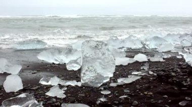 Ice rocks in Iceland — 图库视频影像