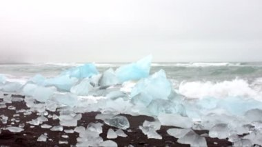 Ice rocks in Iceland — Stock Video