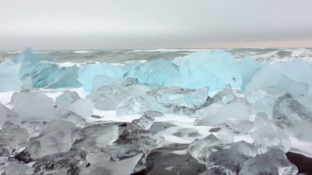 Ice rocks in Iceland — Vídeo de stock