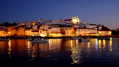 Ferragudo at night — Video Stock