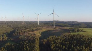 Windmills in the cunucu — Stock Video