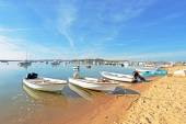 The harbor from Alvor — Stock Photo