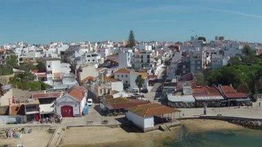 Alvor Portekiz gelen hava — Stok video