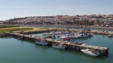 Lagos Portekiz limandan gelen hava — Stok video