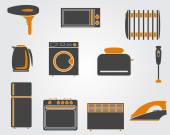 Kitchen simple icons — Stock Vector