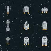 Sci-fi spaceships — Stock vektor