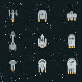 Sci-fi spaceships — Vetor de Stock