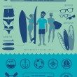 Surfers stuff — Stock Vector #59003273