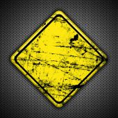 Yellow road traffic sign Grunge — Stock Photo