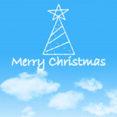Christmas Cloud on blue sky — Stok fotoğraf
