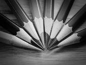 Black and white colour pencils — Stock Photo