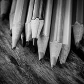 Black and white colour pencils — Stockfoto