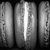 Black and white Sweet french macarons — Foto de Stock