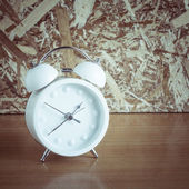 Alarm clock with filter effect retro vintage style — Stock Photo