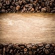 Frame made of coffe with filter effect retro vintage style — Stock Photo #72862111