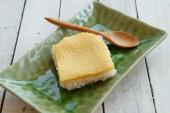 Crema pasticcera tailandese con riso appiccicoso — Foto Stock