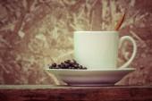 Kaffee mit Filter Effekt retro Vintage-Stil — Stockfoto