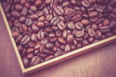 Coffee Beans with filter effect retro vintage style — Stock Photo