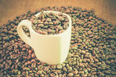 Coffee with filter effect retro vintage style — Stock Photo