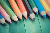 Färg pennor gamla retro vintage stil — Stockfoto