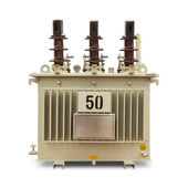 Oil immersed transformer — Stock Photo