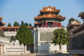 Building and wall in Taoist temple — Stock Photo