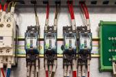 DPDT dc coil relays — Stock Photo