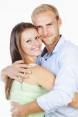 Portrait of a Happy Young Couple Smiling — Stock Photo