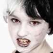 Young Girl in Wig Posing as Vampire — Foto Stock #58271051