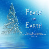 PEACE ON EARTH - CHRISTMAS RELIGIOUS IMAGE — Stock Photo
