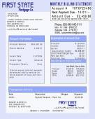 Mortgage Invoice (Faux) Concept — Stock Photo