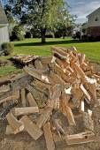 Cord of Split Firewood — Stock Photo