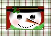 Closeup of Snowman's face  Illustration — Stockfoto