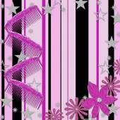 Girly Background, Combs, Stars, Flowers — Стоковое фото