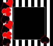 Schwarz / weiß Streifen Hintergrund mit Spielkarten Symbolen — Stockfoto