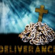 Religious Concept, Deliverance from Sin, Chains — Stock Photo #77941954