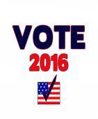 VOTE 2016 Poster — Stock Photo