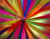 Colorful Wind spinners blurred — Stock Photo