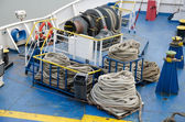 Ropes for mooring — Stock Photo