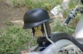Capacete moto — Fotografia Stock