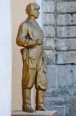 Statue of tankman in Kerch — Stock Photo