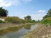 Noord-Krim kanaal zonder water — Stockfoto